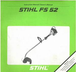 Stihl Strimmer Fs52 Operators Manual