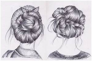 Tumblr Girl Hair Drawing | Hair Drawings Tumblr Include ...