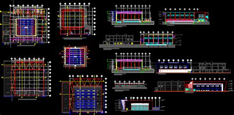 swimming pool project  autocad cad   mb