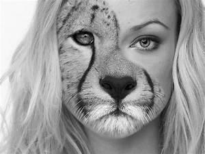 Photoshop Tutorials: Half girl / Half animal - YouTube