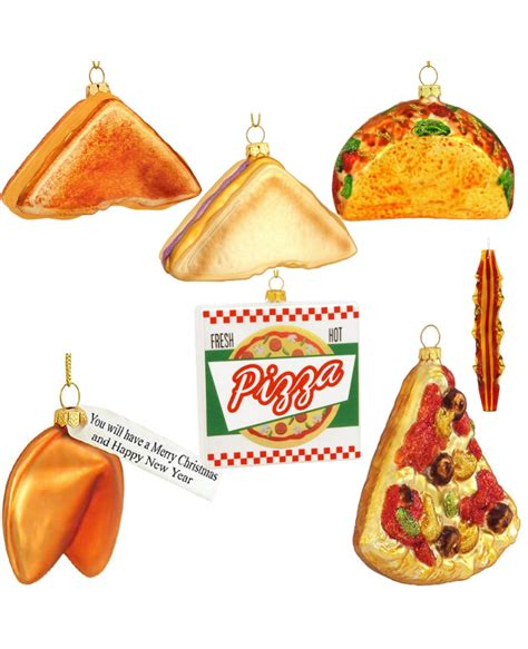 glass food christmas ornaments choose your food