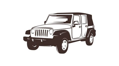 4 door jeep drawing how to draw simple line art vector with coreldraw x7