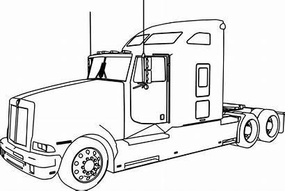 Coloring Truck Kenworth Semi Pages Trailer Peterbilt