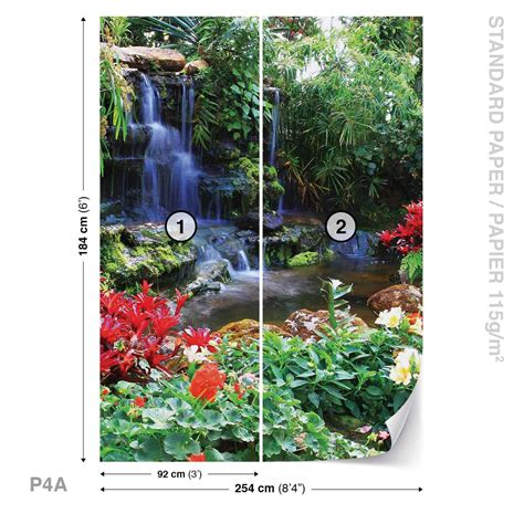 waterfall forest nature wall paper mural buy at europosters