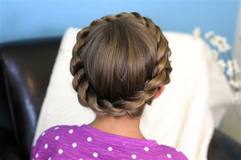 cutegirls hair styles crown rope twist braid updo hairstyles