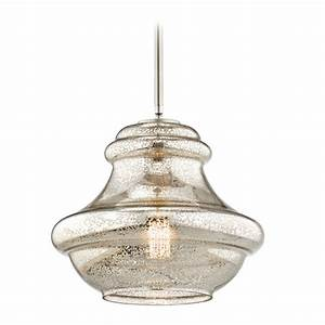 Kichler lighting everly brushed nickel pendant light with