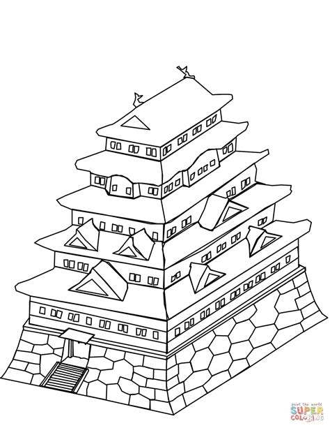japanese castle coloring page  printable coloring pages