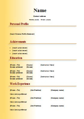 Typical Cv Format by Modern Cv Template 2
