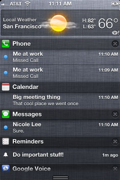 notification center iphone 301 moved permanently