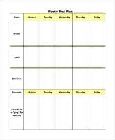 Blank Weekly Meal Planner Template