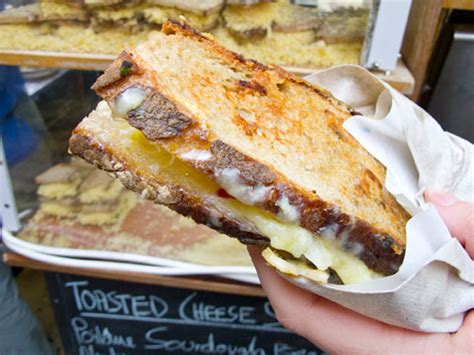 borough market grilled cheese cheese toastie london england