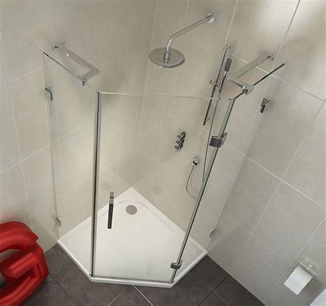 mm frameless pentagonal shower enclosure xmm