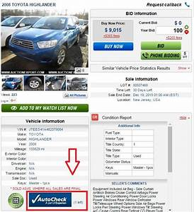 How to order an AUTOCHECK Vehicle History Report