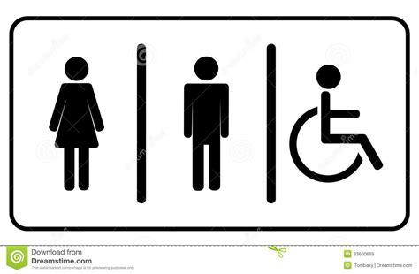 symbole de toilette de toilettes images libres de droits image 33600669