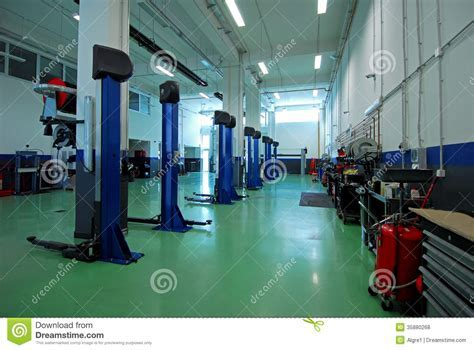 Car Repair Garage, Autoservice Royalty Free Stock Photos