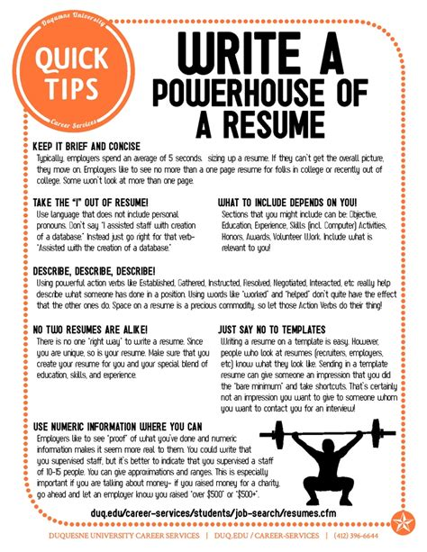 tips for writing resumes powerful resume tips easy fixes to improve and update your resume career