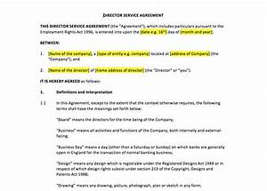 director service agreement template uk template With director employment contract template