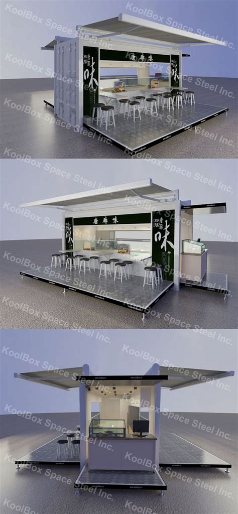 container cuisine koolbox container outdoor food kiosk mobile food kiosk