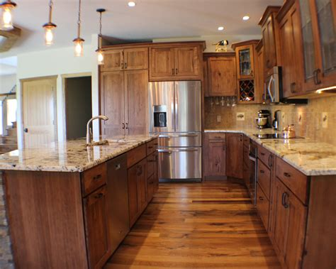 Kitchen : Rustic Beech Kitchen And Cabinets In Bettendorf, Ia By