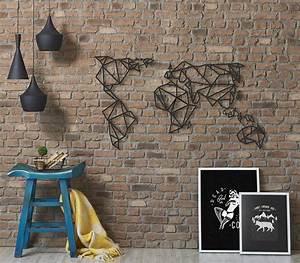 Carte Du Monde Metallique : deco murale metal carte du monde ~ Teatrodelosmanantiales.com Idées de Décoration