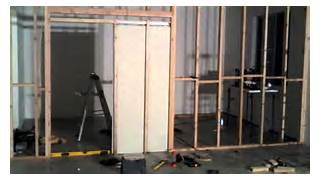 Installing New Exterior Door In Existing Frame by Wall And Pocket Door YouTube