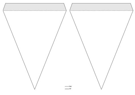 triangle banner template triangle pennant banner template clipart design droide