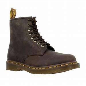 Chaussure Homme Doc Martens : dr martens 1460 box gras homme brun fonce fanny chaussures ~ Melissatoandfro.com Idées de Décoration