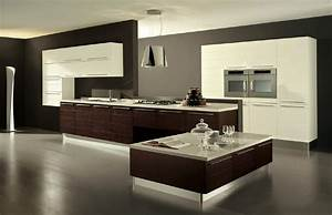 big modern kitchen my home style With kitchen colors with white cabinets with oversized contemporary wall art