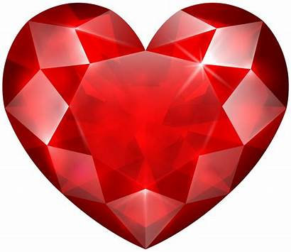 Heart Crystal Clip Transparent Birthday Clipart Ruby