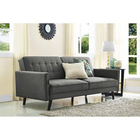 futon walmart better homes and gardens rowan linen futon grey walmart