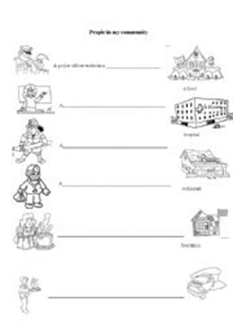 english worksheets people   community