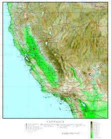 California Elevation Map