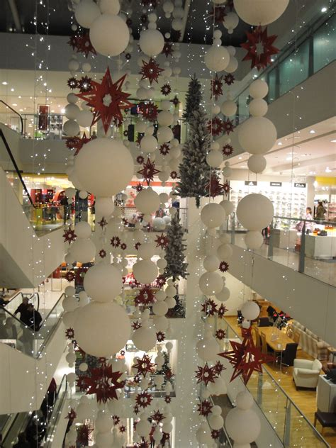 christmas store decorations  grasscloth wallpaper