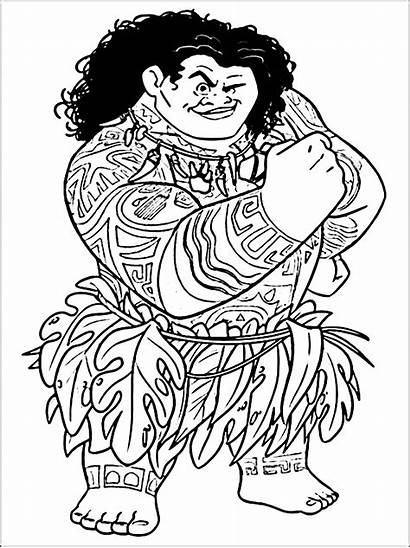 Moana Vaiana Coloring Disney Coloriage Vaina Dessin