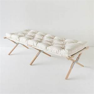 Lit De Camp : futon pure laine lit 1 personne lit de camp pure laine et artisanales ~ Teatrodelosmanantiales.com Idées de Décoration