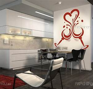 wall stickers kitchen kitchen design 2503en With kitchen cabinets lowes with modern wall art stickers