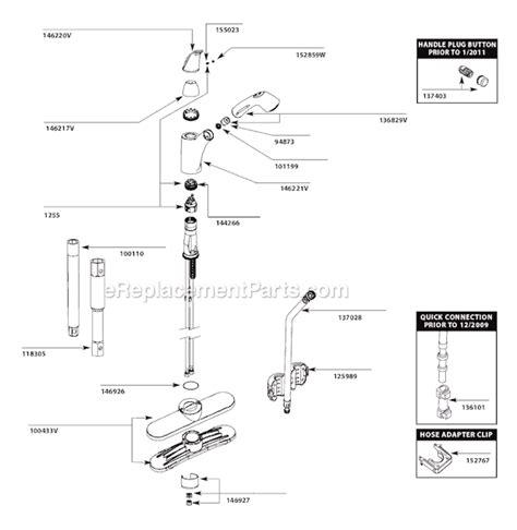 Moen 7560v Parts List And Diagram  (after 111