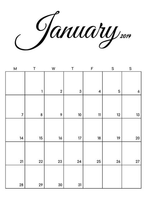 calendar printable dated calendar printable planner