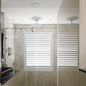 Shutter in shower bathrooms pinterest wet rooms for Window dressing ideas for bathrooms