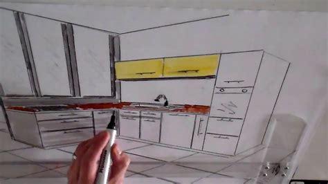 perspective cuisine dessin cuisine en perspective architecture d 39 intérieur