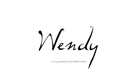 wendy  tattoo designs