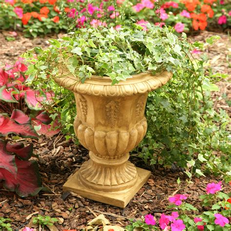 resin traditional topiary urn planter garden