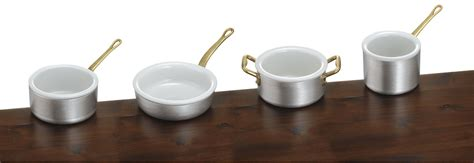 made in italy pot 2 aluminum handles with ceramic bowl