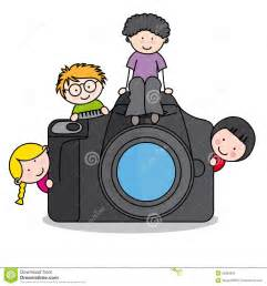 Kid with Camera Clip Art