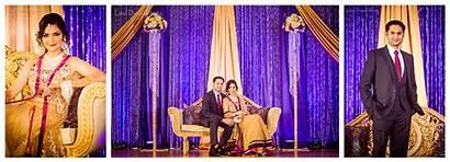 Purple Gold Decor Indian Groom Bride Theme