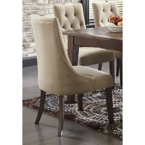 Mestler Button Tufted Side Chair by Mestler Tufted Dining Chair In Light Brown D540 202