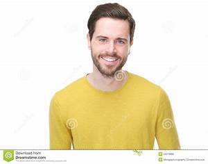 Portrait Of A Handsome Young Man Smiling Royalty Free ...