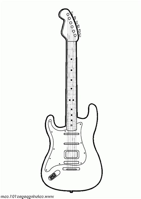 coloring pages guitar handsome acoustic guitar