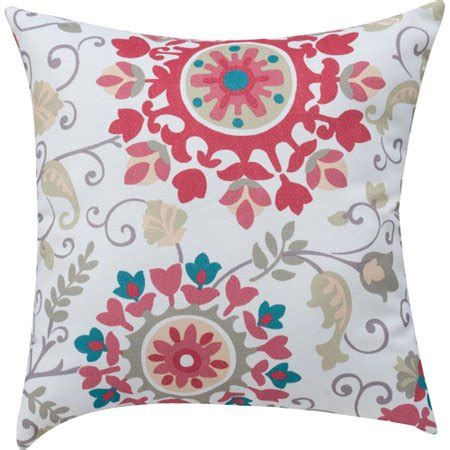 medallion throw pillow mainstays medallion print coral decorative decorative