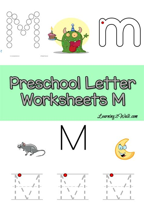 letter m preschool worksheets 411 | Inside Preschool Letter Worksheets M